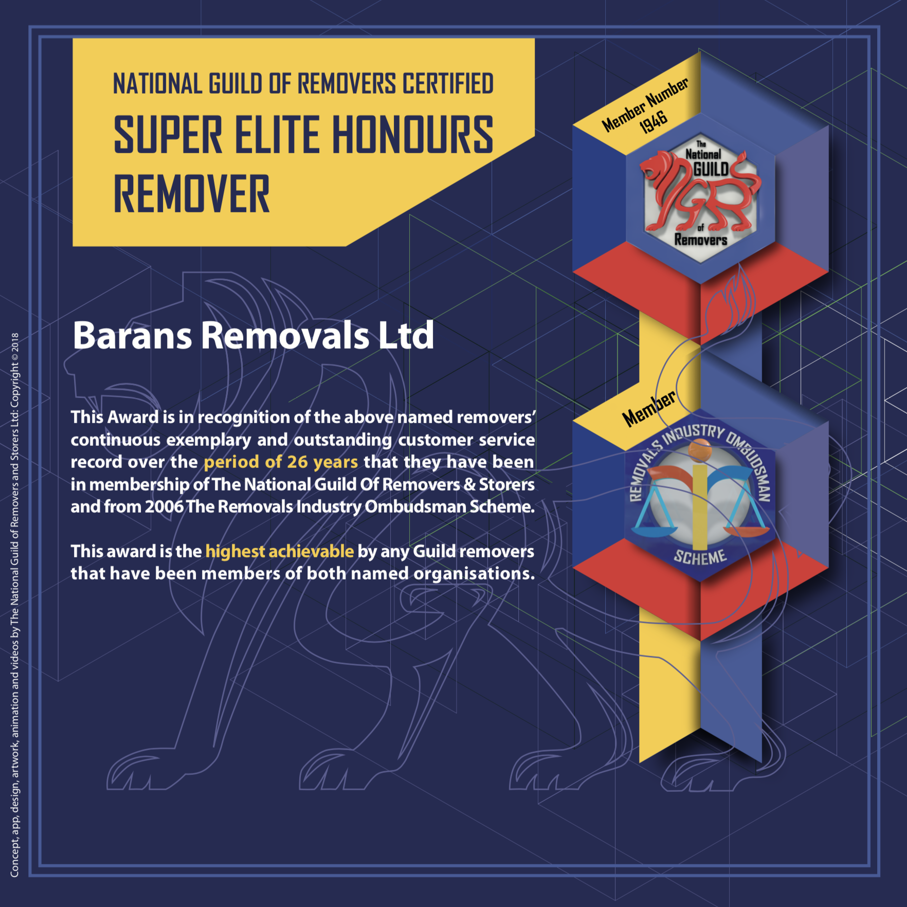 National Guild of Removers and Storers - Super Elite Remover